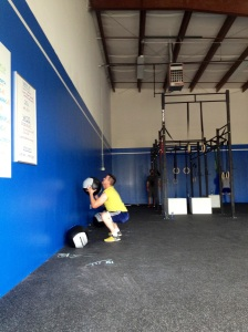 CrossFit Amherst wall balls